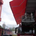 Toldo articulado bombeiros